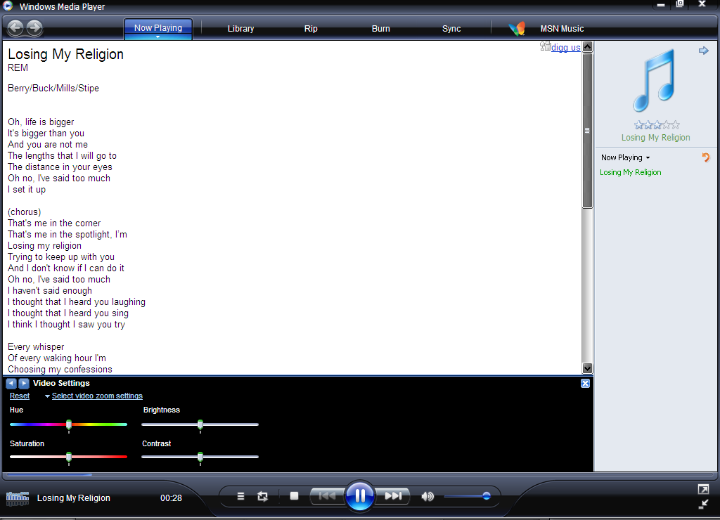 Winamp Lyrics Plugin