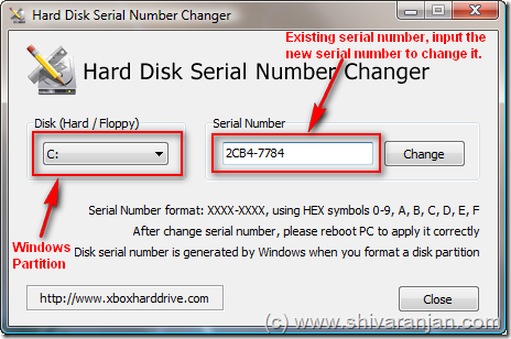 Change the Serial Number of Hard Disk Partitions in Windows without