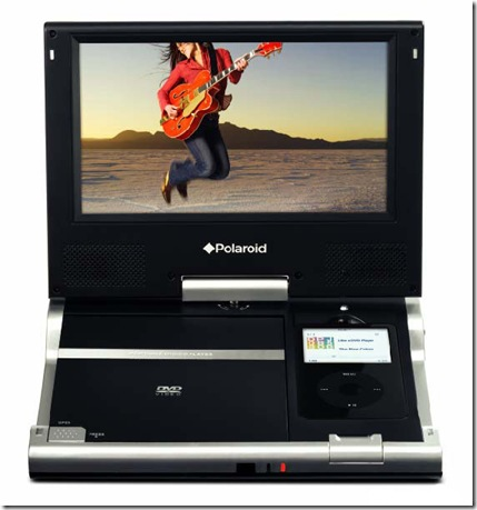 polaroid portable dvd player with ipod dock. Black Bedroom Furniture Sets. Home Design Ideas
