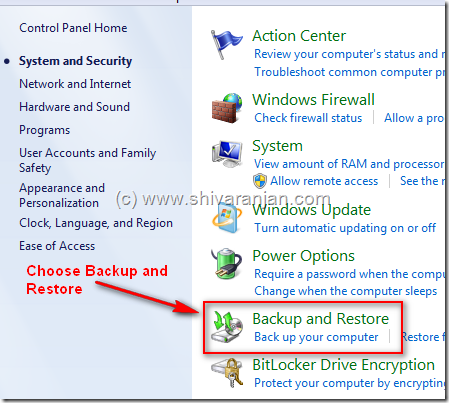 windows7systemimage03 Windows 7: Restore System Image BackUp In case of System or Boot Failure
