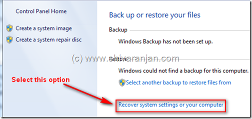 windows7recoversystemimage01 Windows 7: Restore System Image BackUp In case of System or Boot Failure