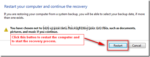 windows7recoversystemimage04 Windows 7: Restore System Image BackUp In case of System or Boot Failure
