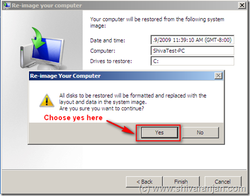 windows7recoversystemimage10 Windows 7: Restore System Image BackUp In case of System or Boot Failure